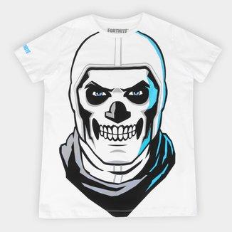 Camiseta Juvenil Fortnite Skull Trooper Masculina