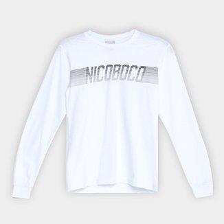 Camiseta Juvenil Nicoboco Golovin Manga Longa Masculina