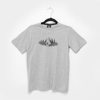 Camiseta Juvenil Volcom Silk Phase Too Manga Curta Masculina