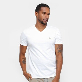 Camiseta Lacoste Gola V Regular Fit Masculina