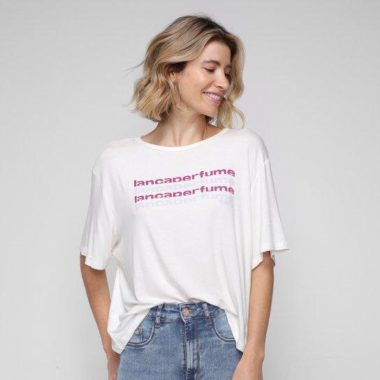 Camiseta Lança Perfume Easy Manga Curta Feminina - Off White
