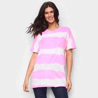 Camiseta Lança Perfume Longa Tie Dye Feminina