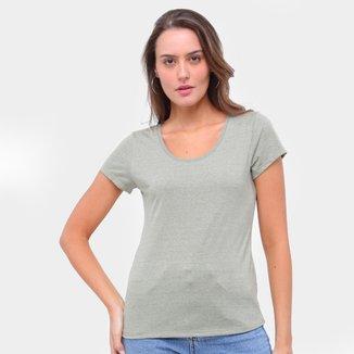 Camiseta Lecimar Básica Lisa Feminina