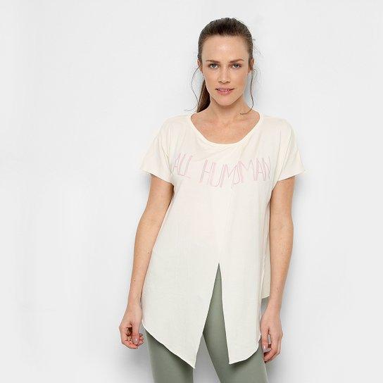Camiseta Live Brezee Energy Feminina - Off White