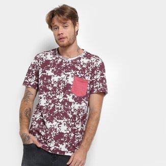 Camiseta Long Island Estampada Bolso Masculina
