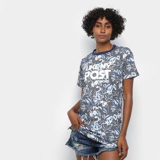 Camiseta Long Tricats Folhagem Feminina