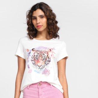 Camiseta Malwee Love Animals Feminina