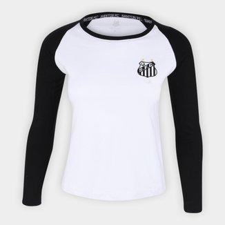 Camiseta Manga Longa Santos Classic Feminina