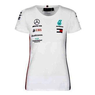 Camiseta Mercedes Oficial 2019 Equipe F1 Feminina