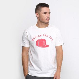 Camiseta MLB Boston Red Sox New Era Essentials Cap Masculina