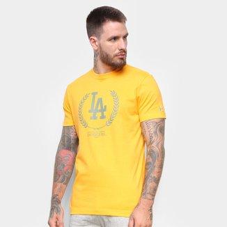 Camiseta MLB Los Angeles DodgersNew Era Summer Time Crown Masculina