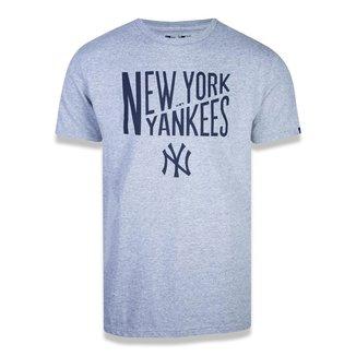 Camiseta MLB New York Yankees New Era Core Letters Masculina