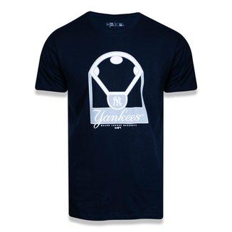 Camiseta MLB New York Yankees New Era Dual Sport Field Masculina