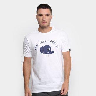 Camiseta MLB New York Yankees New Era Essentials Cap Masculina