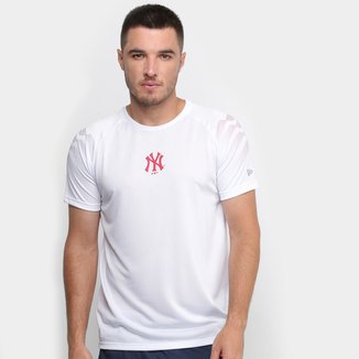 Camiseta MLB New York Yankees New Era Performance Three Whi Masculina
