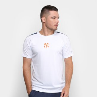 Camiseta MLB New York Yankees New Era Performance Two Whi Masculina