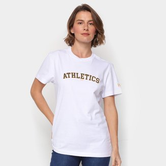 Camiseta MLB Oakland Athletics New Era College Script Masculina