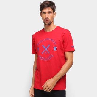 Camiseta MLB Philadelphia Phillies New Era College Bat Masculina