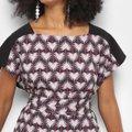 Camiseta Morena Rosa Dress Com Amarração Etampada Feminina