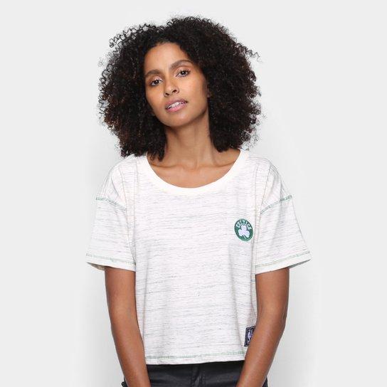 Camiseta NBA Boston Celtics Cropped Feminina - Bege