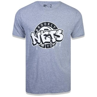 Camiseta NBA Brooklyn Nets Arte Grafite