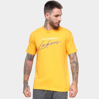 Camiseta NBA Los Angeles Lakers New Era Core Handsign Masculina