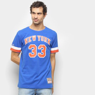 Camiseta NBA New York Knicks nº 33 Patrick Ewing Mitchell & Ness Masculina