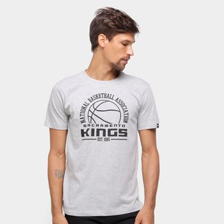 Camiseta NBA Sacramento Kings New Era College Game Ball Masculina