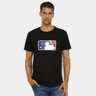 Camiseta New Era MLB Básica Essentials Major League Baseball Masculina
