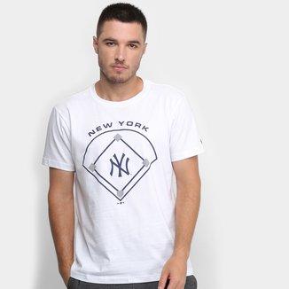 Camiseta New Era MLB New York Yankees Essentials Field Masculina