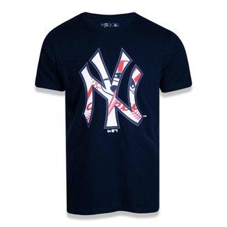 Camiseta New York Yankees New Era Logomania Mix Masculina