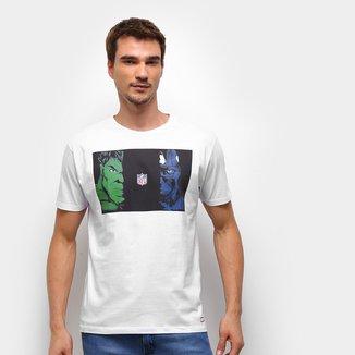 Camiseta NFL Hulk e Capitão América Marvel Masculina