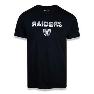 Camiseta NFL Las Vegas Raiders New Era Core Team Cut Masculina