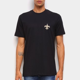 Camiseta NFL New Orleans Saints New Era Logo Shield Masculina