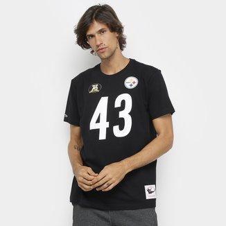 Camiseta NFL Pittsburgh Steelers nº 43 Troy Polamalu Mitchell & Ness Masculina