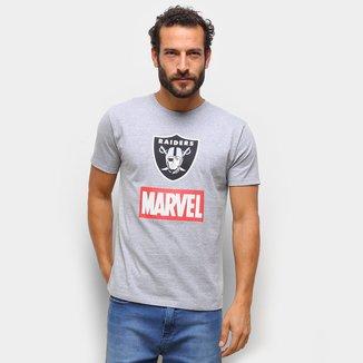 Camiseta NFL  Raiders Marvel Masculina