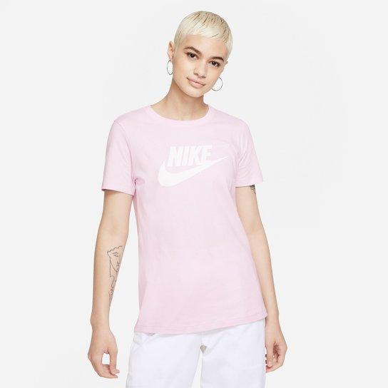 Camiseta Nike Essentials Icon Futura Feminina - Rosa