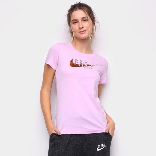 Camiseta Nike Sportswear Logo Feminina - Rosa