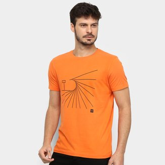 Camiseta Osklen Vintage Graphic Wave Slim Masculina