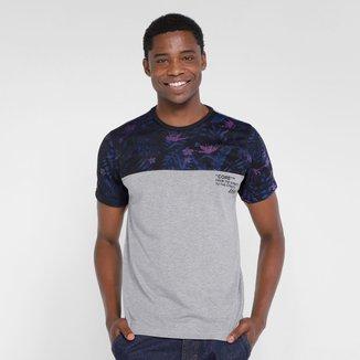 Camiseta Overcore Detalhe Estampa Masculina