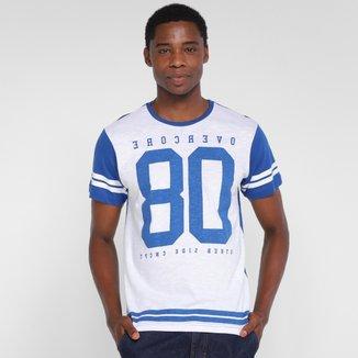 Camiseta Overcore Estampada Bicolor Masculina