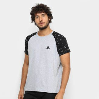 Camiseta PlayStation Brand Raglan Pattern Masculina