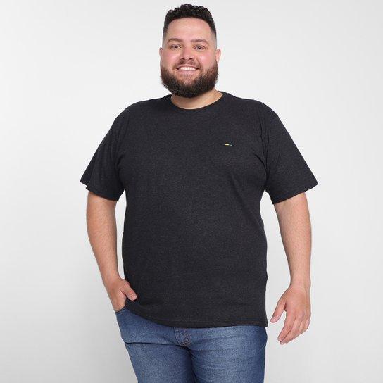 Camiseta Plus Size Industrie Básica Masculina - Cinza