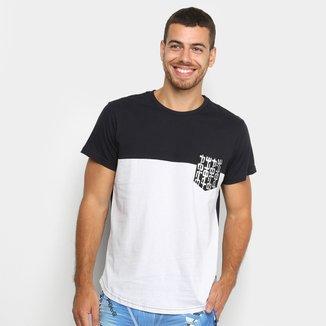 Camiseta Polo RG 518 Bicolor Bolso Masculina