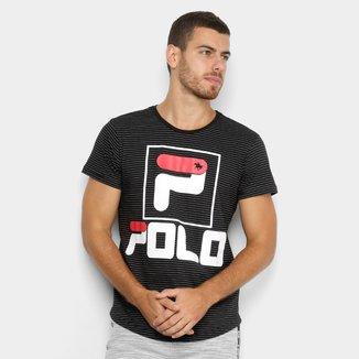 Camiseta Polo RG 518 Listrada Masculina