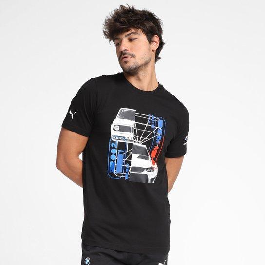 Camiseta Puma BMW MMS Car Graphic Masculina - Preto