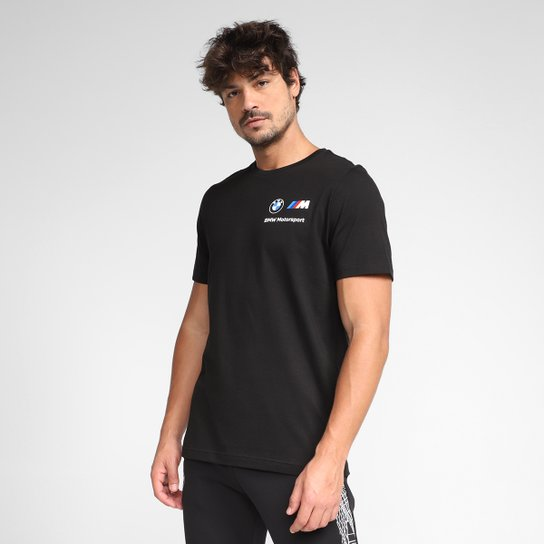 Camiseta Puma BMW MMS Small Logo Masculina - Preto