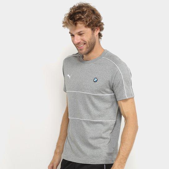 Camiseta Puma Bmw Motorsport T7 Masculina - Cinza