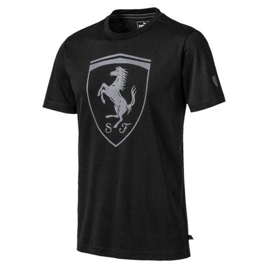 Camiseta Puma Ferrari Big Shield Masculina - Preto