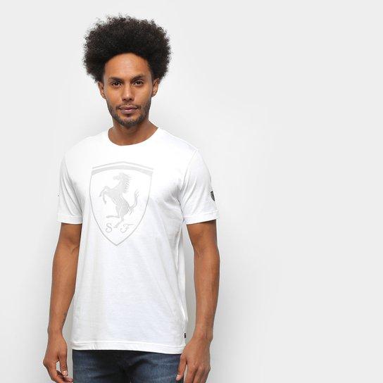 Camiseta Puma Ferrari Big Shield Masculina - Branco